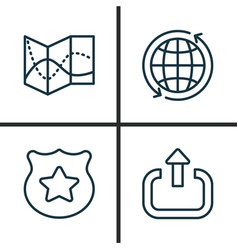 Transportation icons set collection world cop vector