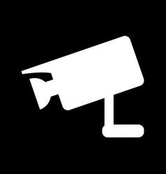 video surveillance icon vector image