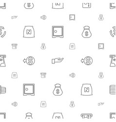 Wealth icons pattern seamless white background vector