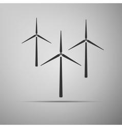 Wind generator icon vector