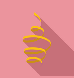 yellow serpentine icon flat style vector image