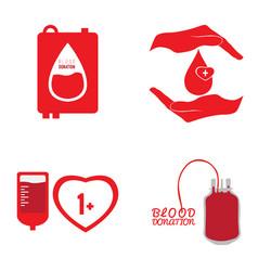 blood donation set vector image
