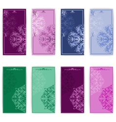 set of template for greeting card vector image