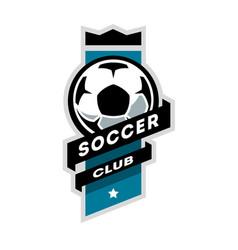 soccer club logo vector image vector image