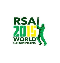 South Africa SA Cricket 2015 World Champions vector image vector image