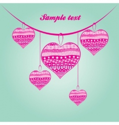 Valentine's Day background vector image vector image