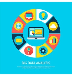 Big Data Analysis Flat Infographic Concept vector image vector image