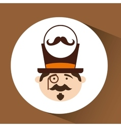 character male hipster mustache vector image