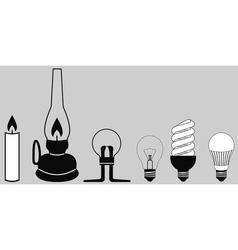 evolution lighting lamp vector image