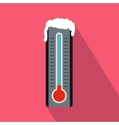 Frozen thermometer icon in flat style vector image