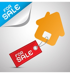 House For Sale Paper Icon vector image