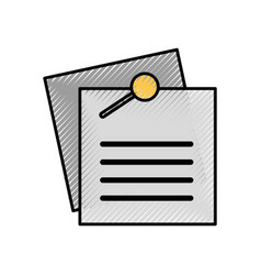 note paper sheet for reminder and memo vector image