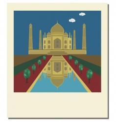 Taj Mahal photo vector image vector image