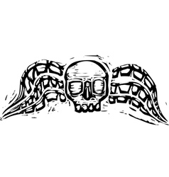 Winged skull vector image vector image