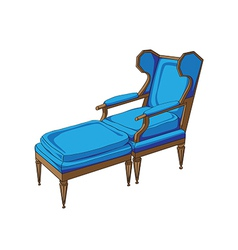 classic lounge chair vector image vector image