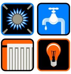 public utilities icon set vector image