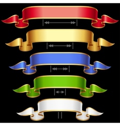 ribbon set with adjusting length vector image