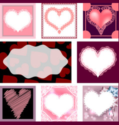 set of templates for cards wedding birthday vector image vector image