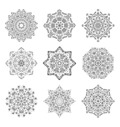 Mandala set hand made sketch for your design vector image vector image