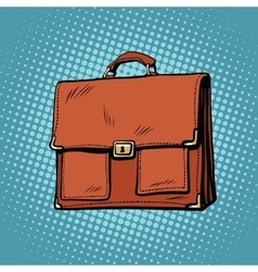 Realistic stylish leather business portfolio bag vector image