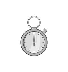 Stopwatch icon black monochrome style vector image