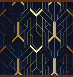 abstract art luxury dark seamless blue and golden vector image