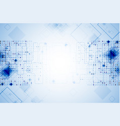 abstract blue technological background vector image