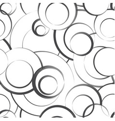 abstract geometric seamless pattern bubble vector image