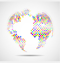 abstract globe earth of colorful circles vector image