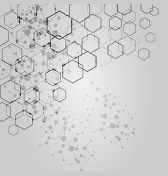 Abstract hexagon background modern technology vector