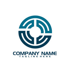 abstract logo for business company vector image