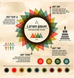 abstract pie diagram infographic vector image