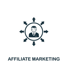 Affiliate marketing icon symbol creative sign vector