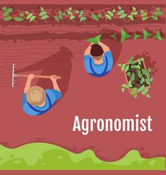 Agronomist social media post mockup vector