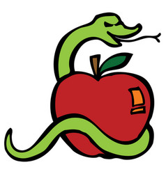 Apple serpent vector