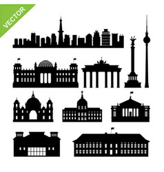 Berline city germany landmark and skyline vector