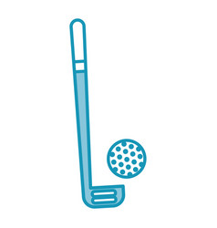 Blue golf club and ball vector