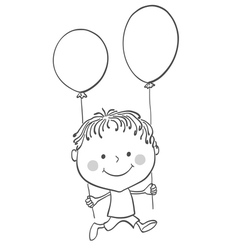 Boy baloons vector