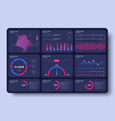 bright modern infographic with data and charts vector image