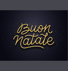 Buon natale typography text christmas card vector