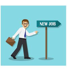 businessman wants a job change vector image