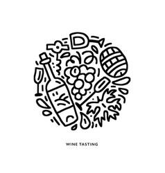 circle wine vector image