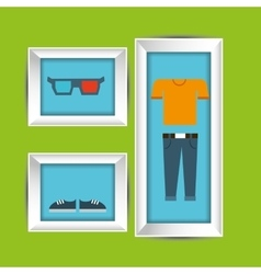 clothes and frame design vector image