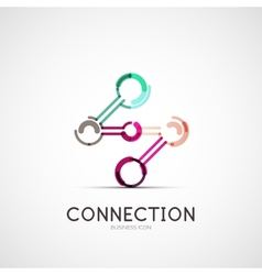 Connection icon company logo business concept vector