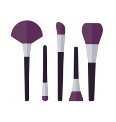 cosmetic brushes make up set vector image