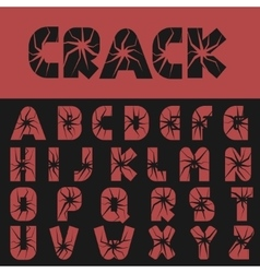 Cracked creative letters vector image