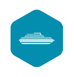cruise ship icon simple style vector image