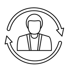 Customer retention icon outline style vector