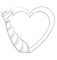 Decorative heart symbol vector