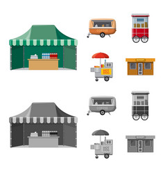 Design of market and exterior icon vector
